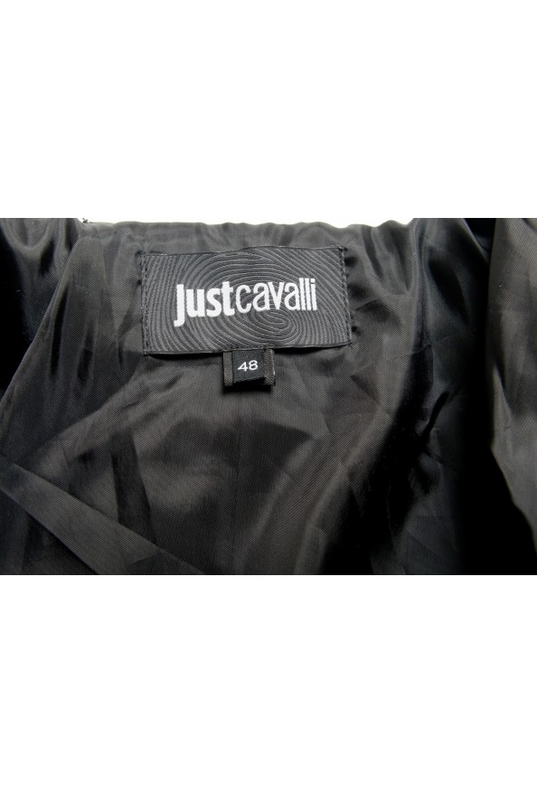 Just Cavalli Men's Olive Green 100% Leather Bomber Jacket : Picture 5