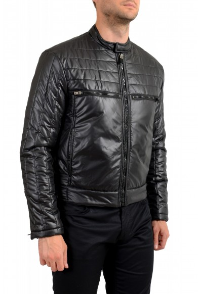 Just Cavalli Men's Black Full Zip Insulated Bomber Jacket: Picture 2