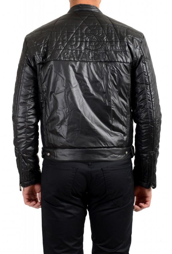 Just Cavalli Men's Black Full Zip Insulated Bomber Jacket: Picture 3