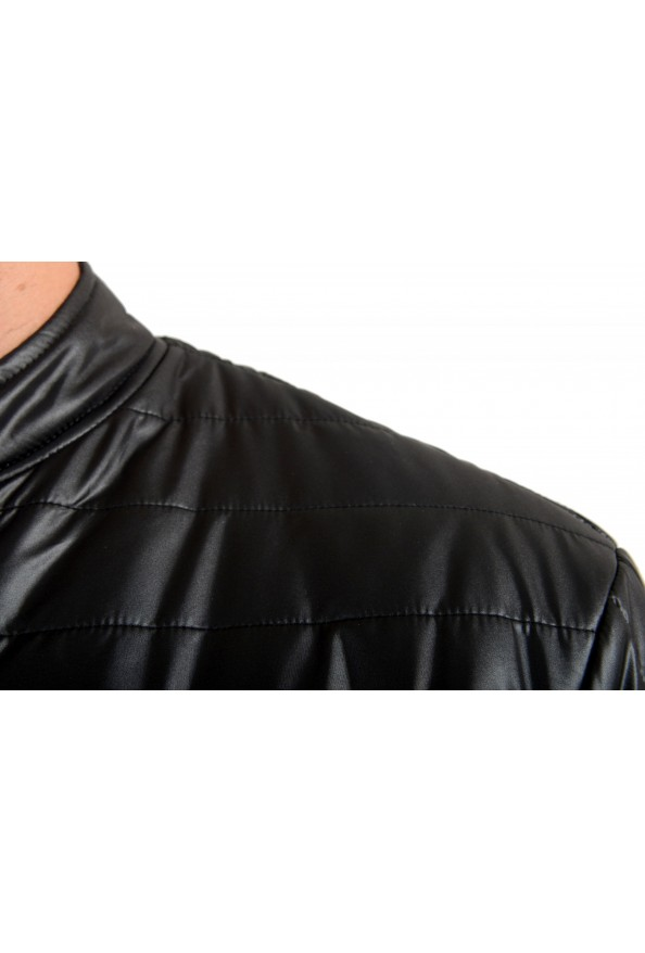 Just Cavalli Men's Black Full Zip Insulated Bomber Jacket: Picture 4