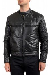 Just Cavalli Men's Black Full Zip Insulated Bomber Jacket