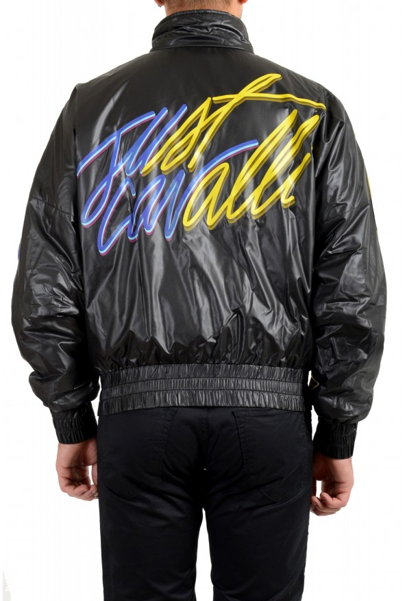 Just Cavalli Men's Multi-Color Full Zip Insulated Bomber Jacket : Picture 3