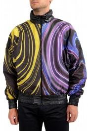 Just Cavalli Men's Multi-Color Full Zip Insulated Bomber Jacket