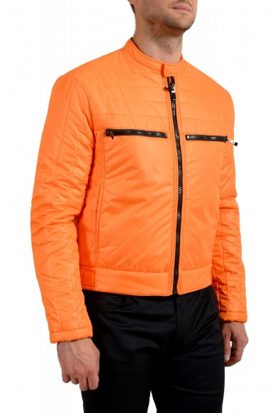 Just Cavalli Men's Orange Full Zip Insulated Bomber Jacket : Picture 2