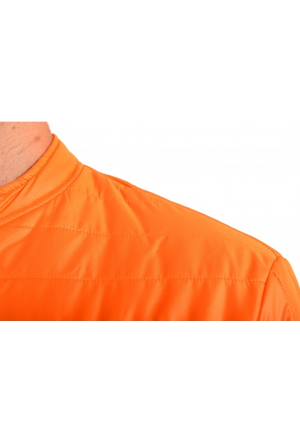 Just Cavalli Men's Orange Full Zip Insulated Bomber Jacket : Picture 4