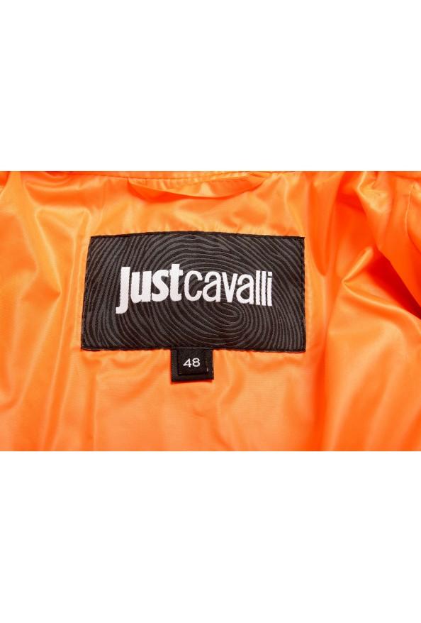 Just Cavalli Men's Orange Full Zip Insulated Bomber Jacket : Picture 5
