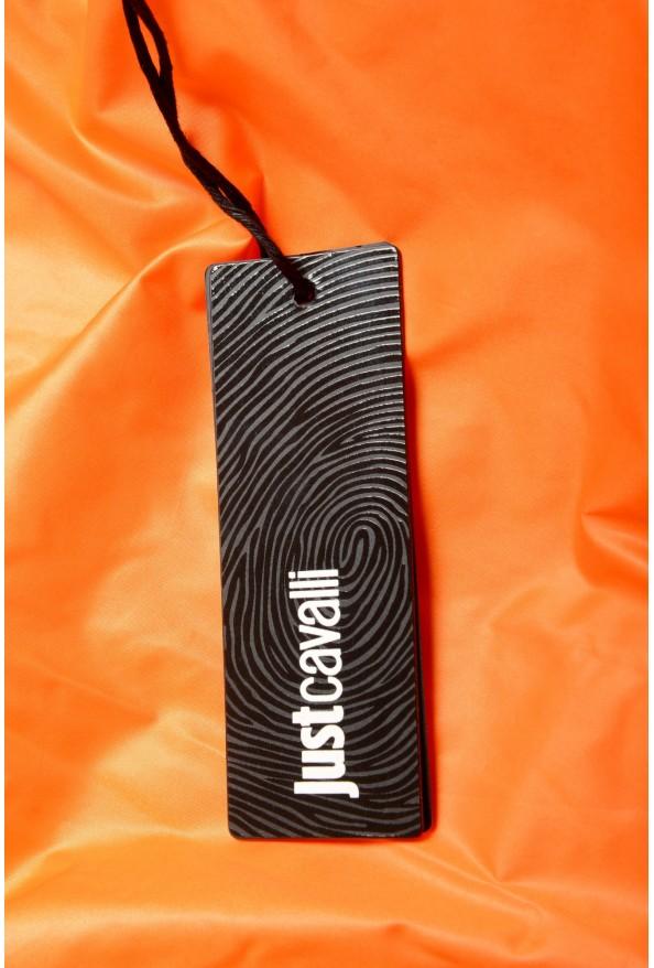Just Cavalli Men's Orange Full Zip Insulated Bomber Jacket : Picture 6