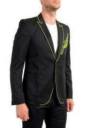 Just Cavalli Men's Embellished Black One Button Sport Coat Blazer : Picture 2