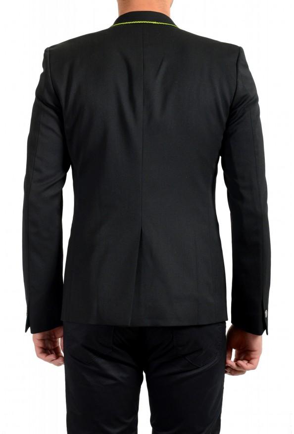 Just Cavalli Men's Embellished Black One Button Sport Coat Blazer : Picture 3
