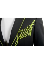 Just Cavalli Men's Embellished Black One Button Sport Coat Blazer : Picture 4