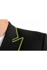 Just Cavalli Men's Embellished Black One Button Sport Coat Blazer : Picture 5