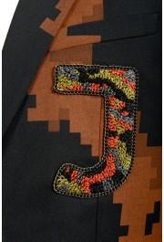 Just Cavalli Men's Multi-Color Wool One Button Sport Coat Blazer : Picture 4