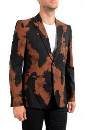 Just Cavalli Men's Multi-Color Wool One Button Sport Coat Blazer : Picture 2