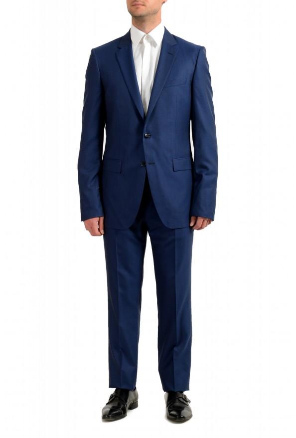 "Hugo Boss Men's ""T-Harvers4/Glover3"" Blue Slim Fit Silk Wool Two Button Suit"