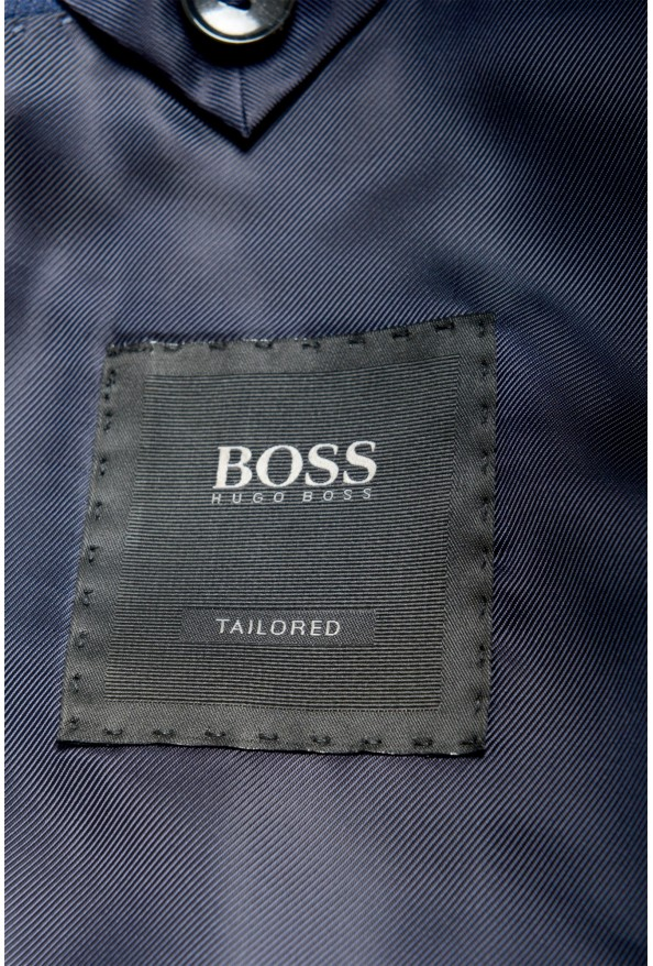 """Hugo Boss Men's """"T-Harvers4/Glover3"""" Blue Slim Fit Silk Wool Two Button Suit: Picture 11"""