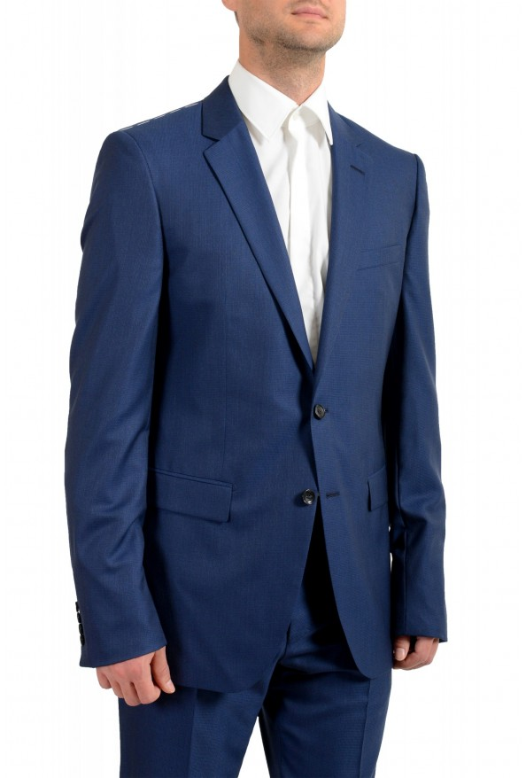 """Hugo Boss Men's """"T-Harvers4/Glover3"""" Blue Slim Fit Silk Wool Two Button Suit: Picture 4"""