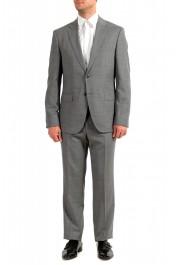 "Hugo Boss Men's ""Jeckson/Lenon1"" Gray Regular Fit 100% Wool Two Button Suit"
