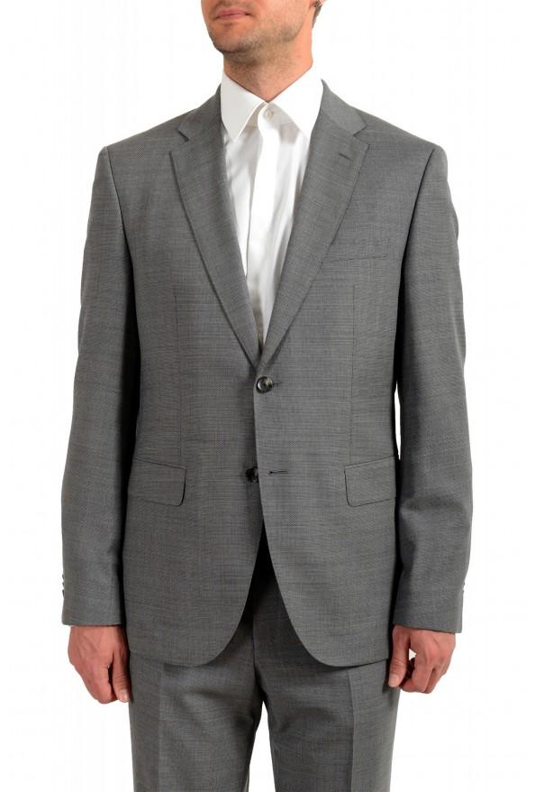 "Hugo Boss Men's ""Jeckson/Lenon1"" Gray Regular Fit 100% Wool Two Button Suit: Picture 4"