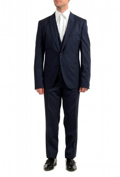 """Hugo Boss Men's """"Arti/Hesten184V1"""" Extra Slim Fit Blue Wool Three Piece Suit"""