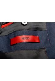 "Hugo Boss Men's ""Arti/Hesten184V1"" Extra Slim Fit Blue Wool Three Piece Suit: Picture 15"