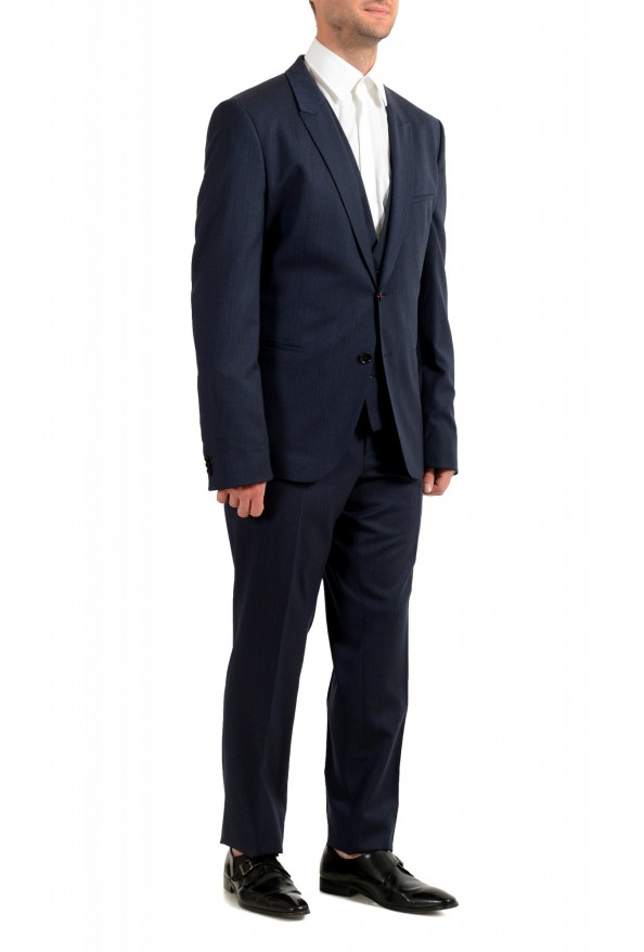 "Hugo Boss Men's ""Arti/Hesten184V1"" Extra Slim Fit Blue Wool Three Piece Suit: Picture 2"
