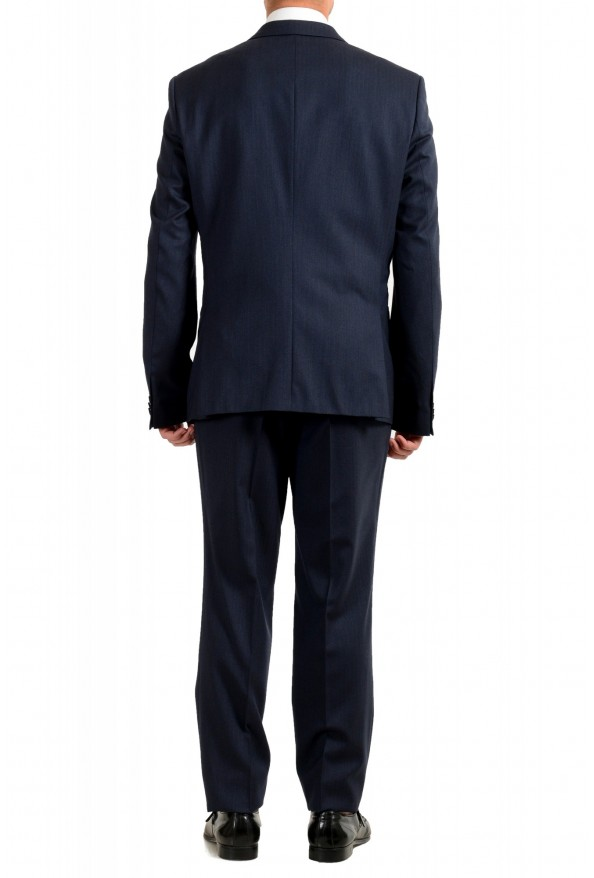 "Hugo Boss Men's ""Arti/Hesten184V1"" Extra Slim Fit Blue Wool Three Piece Suit: Picture 3"