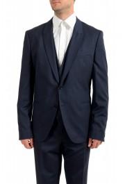 "Hugo Boss Men's ""Arti/Hesten184V1"" Extra Slim Fit Blue Wool Three Piece Suit: Picture 4"