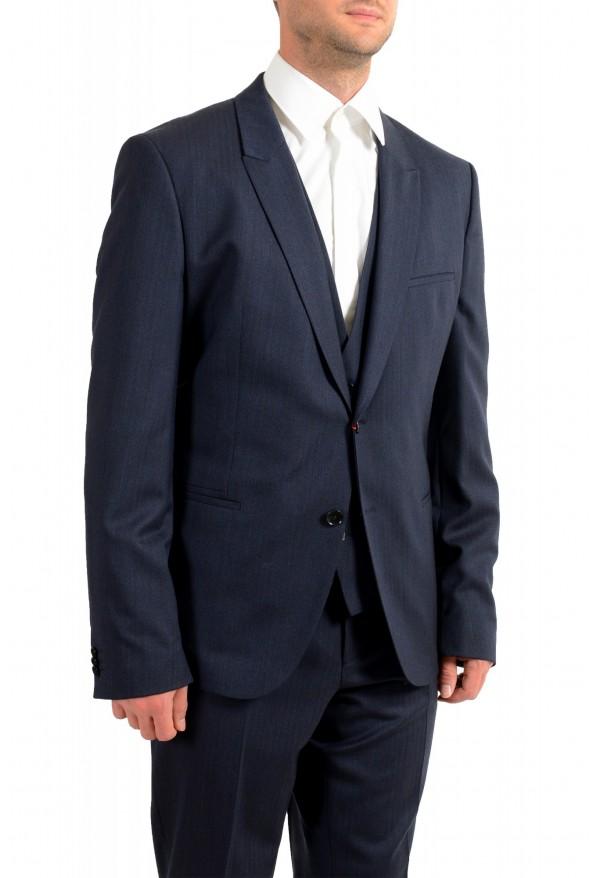"Hugo Boss Men's ""Arti/Hesten184V1"" Extra Slim Fit Blue Wool Three Piece Suit: Picture 5"