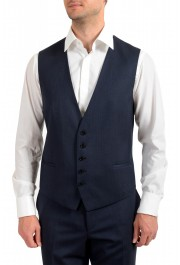 "Hugo Boss Men's ""Arti/Hesten184V1"" Extra Slim Fit Blue Wool Three Piece Suit: Picture 8"