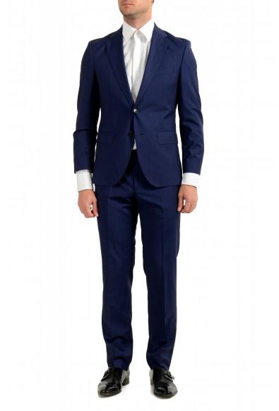 Hugo Boss Men's Johnstons5/Lenon1 Regular Fit Striped 100% Wool Two Button Suit