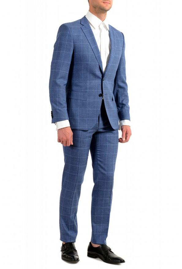 "Hugo Boss Men's ""Huge6/Genius5"" Slim Fit Plaid 100% Wool Two Button Suit: Picture 2"