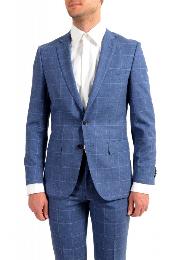"Hugo Boss Men's ""Huge6/Genius5"" Slim Fit Plaid 100% Wool Two Button Suit: Picture 4"