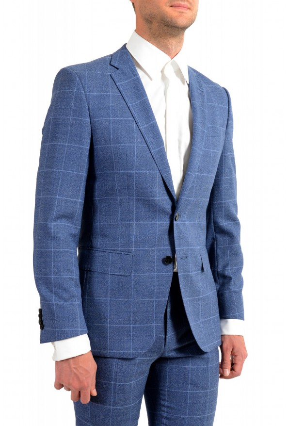"Hugo Boss Men's ""Huge6/Genius5"" Slim Fit Plaid 100% Wool Two Button Suit: Picture 5"