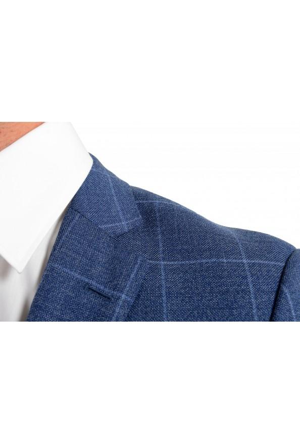 "Hugo Boss Men's ""Huge6/Genius5"" Slim Fit Plaid 100% Wool Two Button Suit: Picture 7"