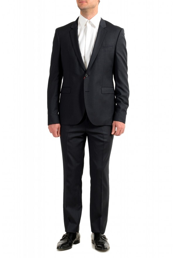 """Hugo Boss Men's """"Phil/Taylor182"""" Extra Slim Fit Striped Wool Two Button Suit"""