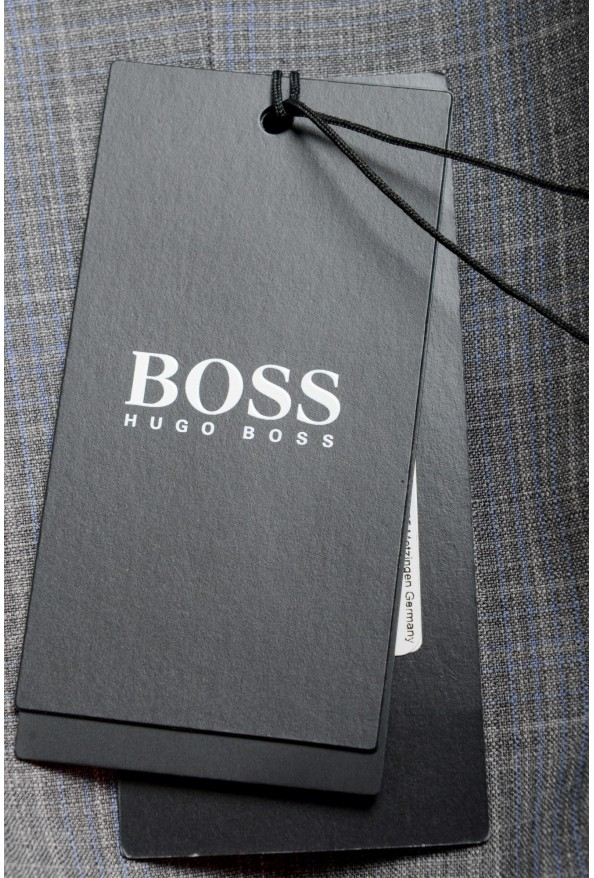 "Hugo Boss Men's ""Huge6/Genius5"" Slim Fit Gray 100% Wool Two Button Suit: Picture 11"