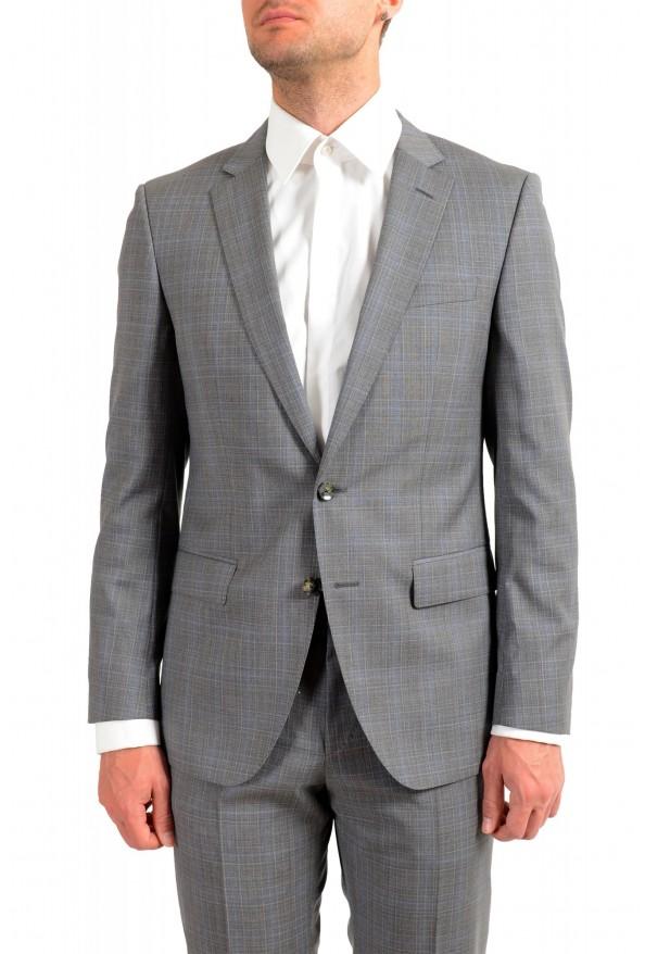 "Hugo Boss Men's ""Huge6/Genius5"" Slim Fit Gray 100% Wool Two Button Suit: Picture 4"