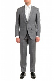 "Hugo Boss Men's ""Huge6/Genius5"" Slim Fit Gray 100% Wool Two Button Suit"