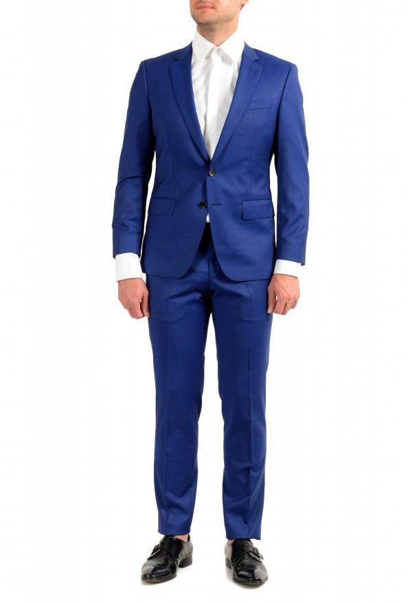 "Hugo Boss Men's ""Huge6/Genius5"" Slim Fit Blue 100% Wool Two Button Suit"