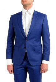 "Hugo Boss Men's ""Huge6/Genius5"" Slim Fit Blue 100% Wool Two Button Suit: Picture 4"