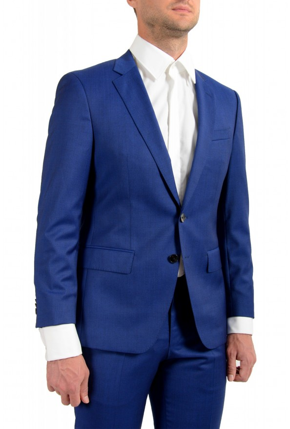 "Hugo Boss Men's ""Huge6/Genius5"" Slim Fit Blue 100% Wool Two Button Suit: Picture 5"