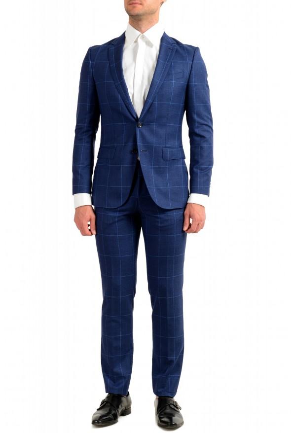 """Hugo Boss Men's """"Novan5/Ben2"""" Slim Fit Plaid 100% Wool Two Button Suit"""