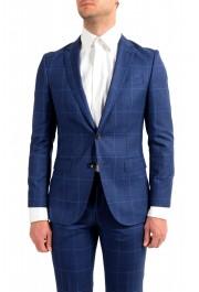 """Hugo Boss Men's """"Novan5/Ben2"""" Slim Fit Plaid 100% Wool Two Button Suit: Picture 4"""