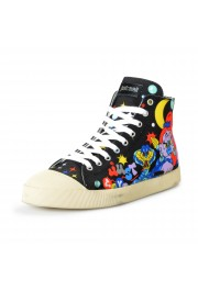 Just Cavalli Men's Canvas Multi-Color High Top Fashion Sneakers Shoes