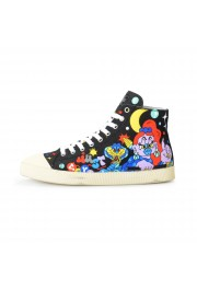 Just Cavalli Men's Canvas Multi-Color High Top Fashion Sneakers Shoes: Picture 2