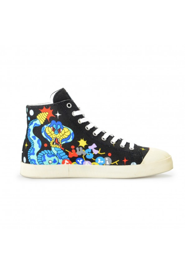 Just Cavalli Men's Canvas Multi-Color High Top Fashion Sneakers Shoes: Picture 4