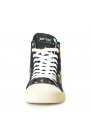 Just Cavalli Men's Canvas Multi-Color High Top Fashion Sneakers Shoes: Picture 5