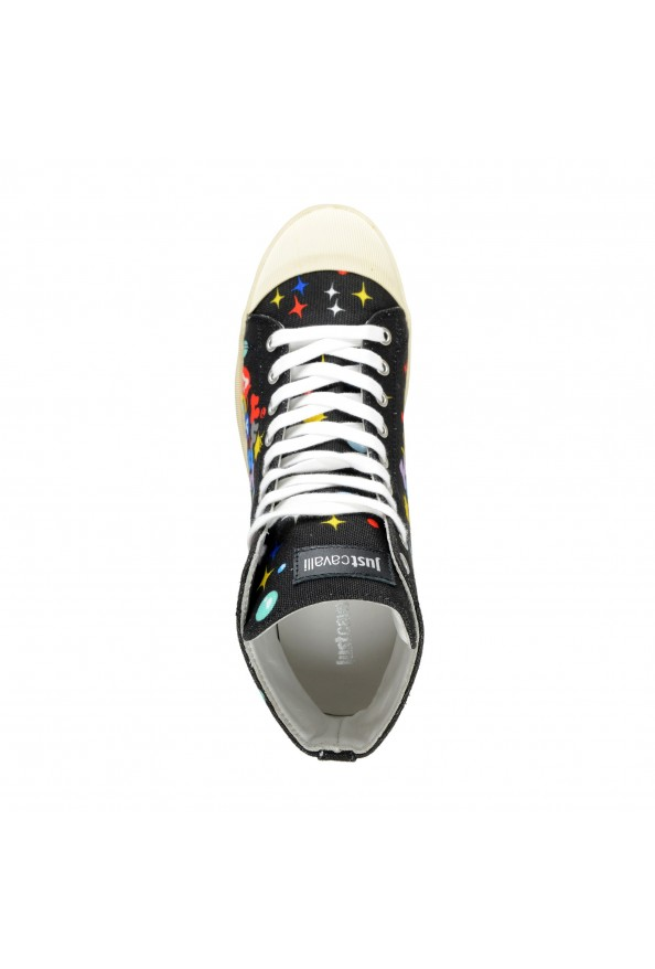 Just Cavalli Men's Canvas Multi-Color High Top Fashion Sneakers Shoes: Picture 7