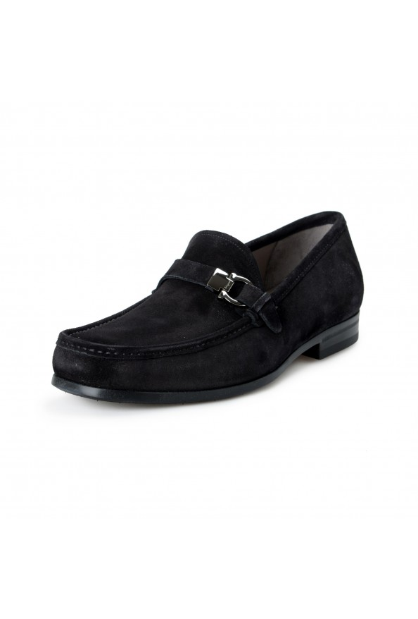 "Salvatore Ferragamo Men's ""ADAM"" Black Suede Leather Slip On Loafers Shoes"