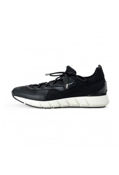 "Salvatore Ferragamo Men's ""ALPE"" Black Canvas Leather Fashion Sneakers Shoes: Picture 2"
